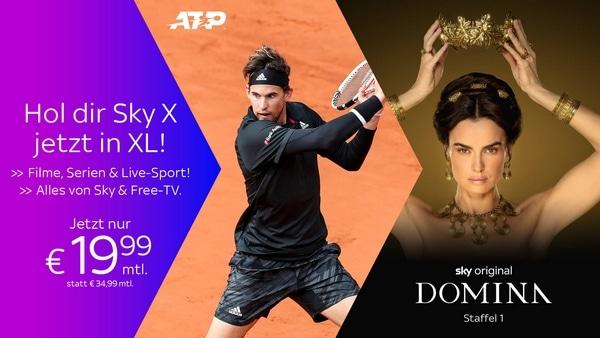 SPECIAL: Sky X Fiction & Sport mit Kombi & Live-TV Angebot - um nur 19,99€ für Sky X komplett!