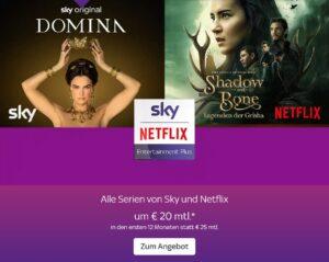 SPECIAL: Alle Serien von Sky & NETFLIX um nur 20€ mtl.!