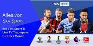 Sky X Traumpass: Kompletter Live-Sport als Stream – nur 12€/Monat (50% Rabatt)!