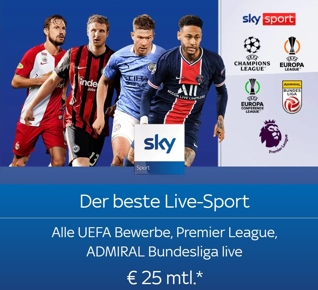 Superdeal Sport Special 2021/22: Sky Live-Sport um mtl. 25€!