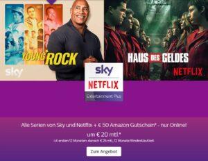 Alle Serien von Sky & NETFLIX um nur 20€ mtl.! JETZT: 50€ Amazon-Gutschein geschenkt!